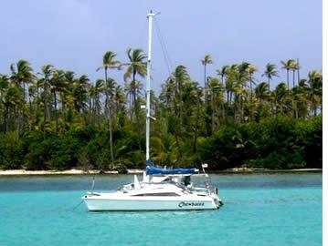 De catamaran zeiltocht is zeker de beste manier om de archipel van Bocas del Toro in Panama te verkennen