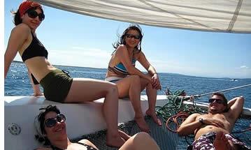 In unserer Katamarane sind Sie in der Lage, wirklich in Bocas del Toro einweichen in wahre Stil der Karibik